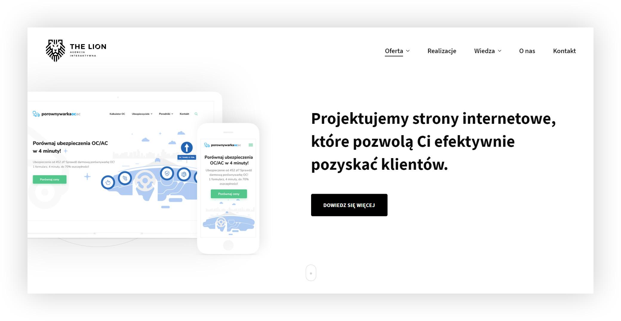 Strony internetowe Wrocław, Agencja Interaktywna The Lion